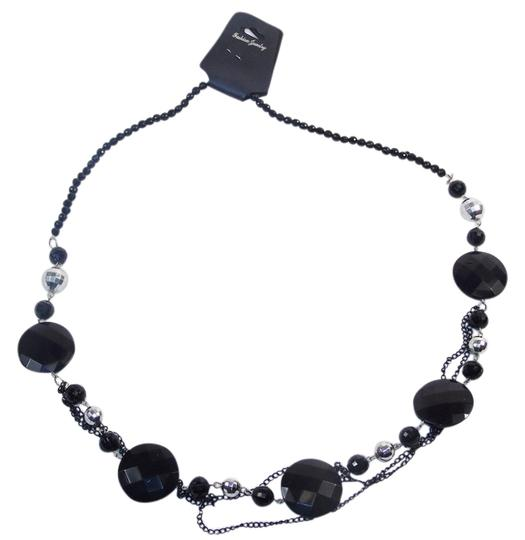 Preload https://img-static.tradesy.com/item/14473921/black-fashion-with-beads-and-chains-necklace-0-1-540-540.jpg