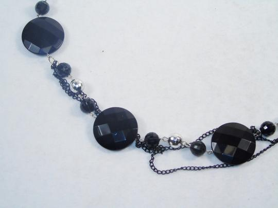 Other Fashion Jewelry Necklace with Beads and Chains - Black. Image 1