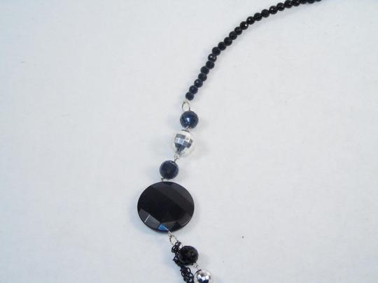 Other Fashion Jewelry Necklace with Beads and Chains - Black. Image 2