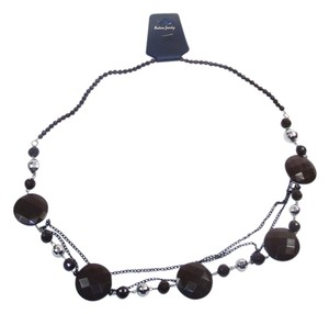 Other Fashion Jewelry Necklace with Beads and Chains - Brown.