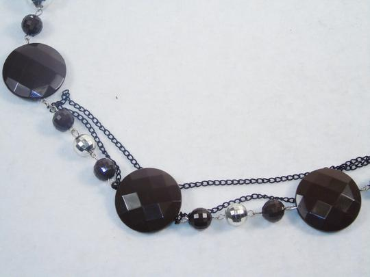 Other Fashion Jewelry Necklace with Beads and Chains - Brown. Image 1