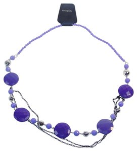 Other Fashion Jewelry Necklace with Beads and Chains - Lavender.