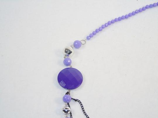 Other Fashion Jewelry Necklace with Beads and Chains - Lavender. Image 2