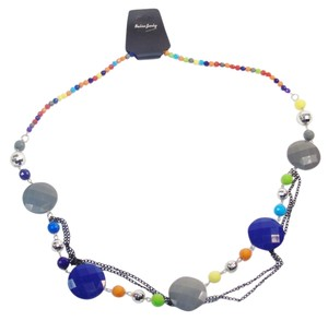 Other Fashion Jewelry Necklace with Beads and Chains - Rainbow.