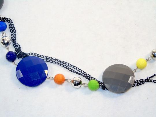 Other Fashion Jewelry Necklace with Beads and Chains - Rainbow. Image 1