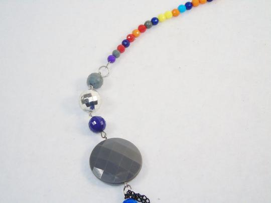 Other Fashion Jewelry Necklace with Beads and Chains - Rainbow. Image 2