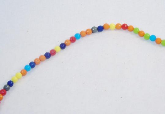 Other Fashion Jewelry Necklace with Beads and Chains - Rainbow. Image 3