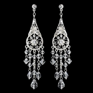 Elegance By Carbonneau Dramatic Crystal And Rhinestone Chandelier Earrings