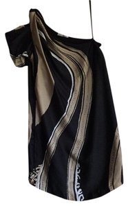 Bloom short dress Black, Gold, and White on Tradesy