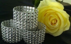 100 Six Row Napkin Rings/Sash Enhancers - Great Price Reception Decoration