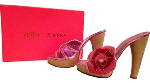 Betsey Johnson Summer Sandal Floral Pink Mules