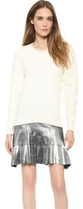Ohne Titel Gucci Metallic Herve Leger New Years Eve Mini Skirt Silver