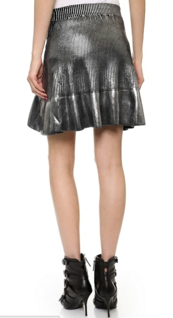 Ohne Titel Gucci Metallic Herve Leger New Years Eve Mini Skirt Silver Image 2
