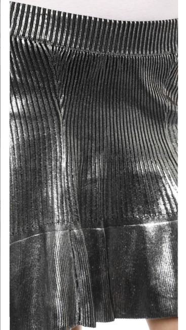Ohne Titel Gucci Metallic Herve Leger New Years Eve Mini Skirt Silver Image 4