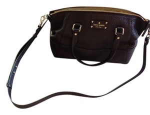 Kate Spade Pebbled Leather Crossbody Satchel in Dark n Stormy