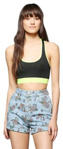 Urban Outfitters Floral High Waisted Vintage Cuffed Shorts Blue