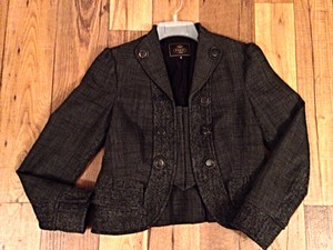Tocca Tweed Mixed Media Blazer