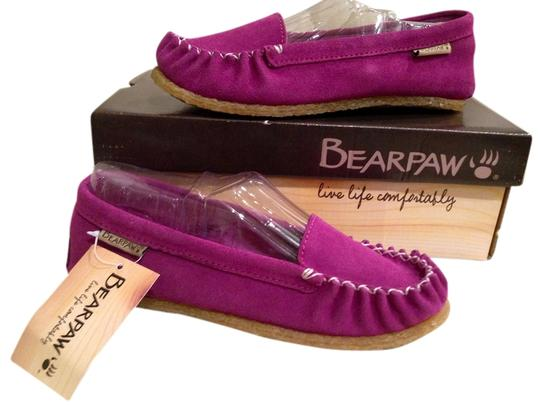 Preload https://item1.tradesy.com/images/bearpaw-moccasins-suede-comfortable-purple-flats-1447485-0-0.jpg?width=440&height=440
