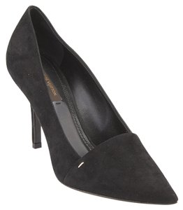 Louis Vuitton Suede Heels Black Formal