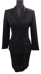 Anne Klein Anne Klein II Petite Charcoal Gray Suit and Skirt