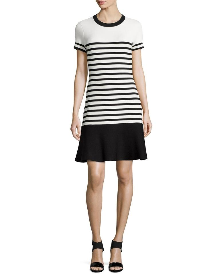 Kate Spade Short Dress Black White Striped Stretch Summer On Tradesy