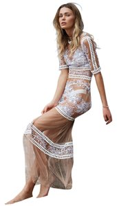 Nude and white Maxi Dress by For Love & Lemons