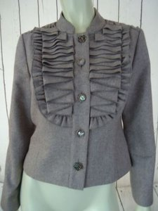 Anthropologie Tabitha Anthropologie Blazer Taupe Heather Wool Poly Stretch Wo Tag Chic