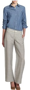 Max Mara Wide Leg Pants STRIPE BLACK/WHITE