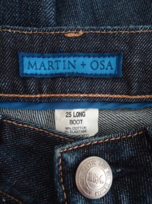 Martin + Osa 25 Long Jeans Boot Stretch Attitude Wotag Hot Pants Image 5