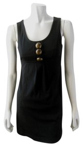 Kensie short dress Black Sleeveless Stretchy Retro Empire Waist Mini Tank on Tradesy