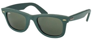 Ray-Ban Ray-Ban RB2140QM-1170 WAYFARER LEATHER Green Size 50mm Sunglasses