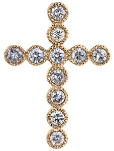 ABC Jewelry Diamond cross pendant
