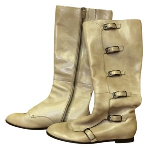 Cole Haan Buckles Flat Natural Boots