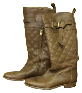 Burberry Buckle Leather Tan Boots