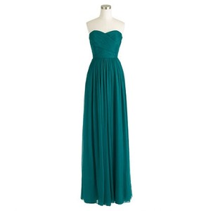 J.Crew Peacock Chiffon Unknown Formal Bridesmaid/Mob Dress Size 4 (S)