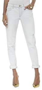 Juicy Couture Bleached Roll Cuff Nwt Made In Usa Straight Leg Jeans-Light Wash