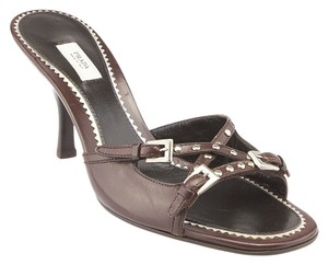 Prada Calzature Donna Leather Brown Sandals