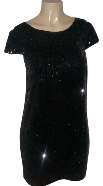 Preload https://img-static.tradesy.com/item/14477731/banana-republic-black-new-without-tags-sparkling-silk-fully-lined-sequin-above-knee-formal-dress-siz-0-1-650-650.jpg