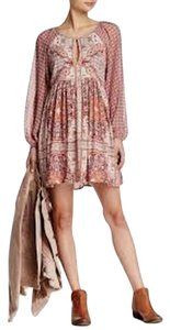 Free People short dress Ivory Combo Boho Peasant on Tradesy