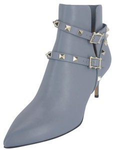 Valentino Strappy Mid Heels G23 Blue grey Boots