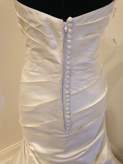 Martina Liana Silk Dupioni 424 Modern Wedding Dress Size 12 (L) Image 1