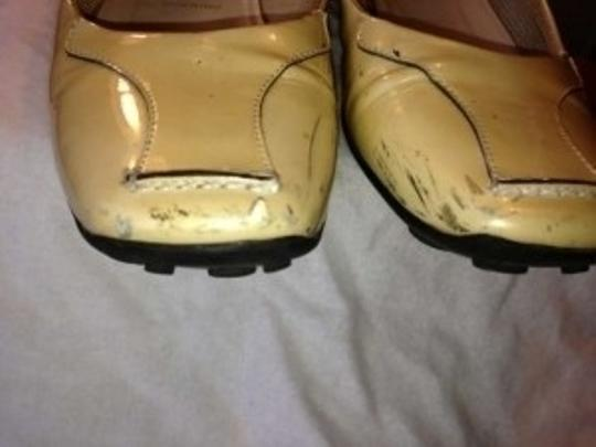 Prada Patent Leather With Rubber Sole. Size 36 European 6.5 - 7 Us. Made In Italy Off White Flats