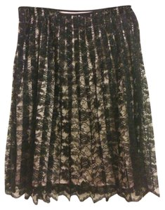 Arden B. Skirt Black lace with pink layer