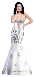 MM Couture Crystals Rhinestones Sexy Dress
