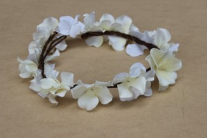 Anshu Jain Custom made ivory flower crown - bridal floral crown - ivory floral crown - bridal hair accessory