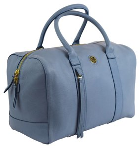 Tory Burch Brody Leather Satchel in Blue