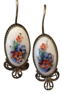 Other Unique Silver Earning with Enamel Russian Vintage Stail