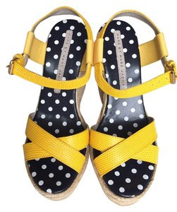 Marc by Marc Jacobs Sandals Platform Leather yellow Wedges
