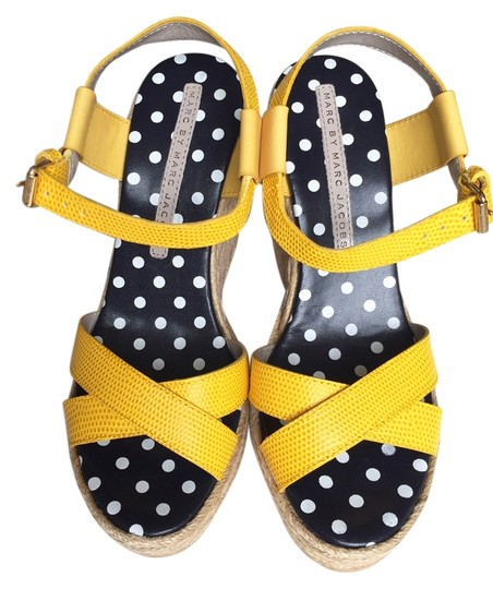 Preload https://img-static.tradesy.com/item/14479027/marc-by-marc-jacobs-yellow-leather-sandals-wedges-size-us-6-0-1-540-540.jpg