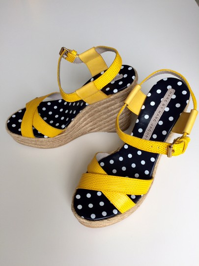 Marc by Marc Jacobs Sandals Platform Leather yellow Wedges Image 1